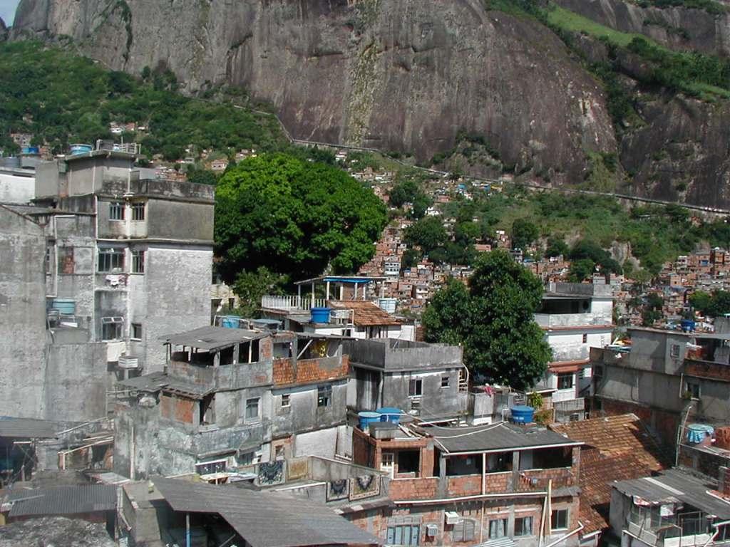 Район фавел в Рио