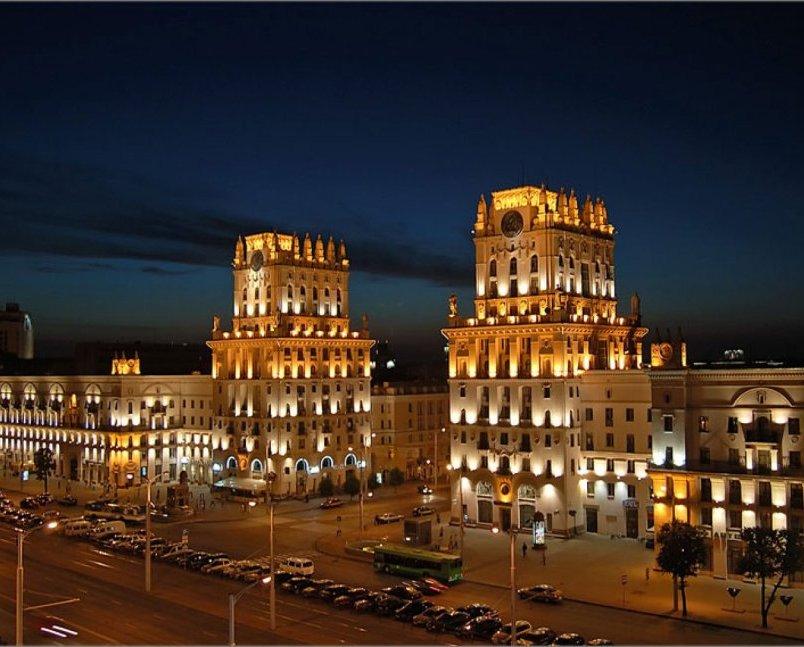 Фото Минска ночью