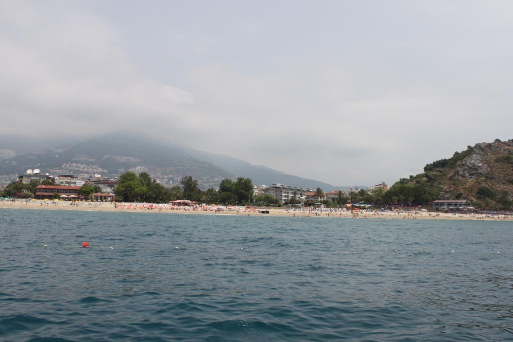 Пляж Клеопатры вид с моря фото